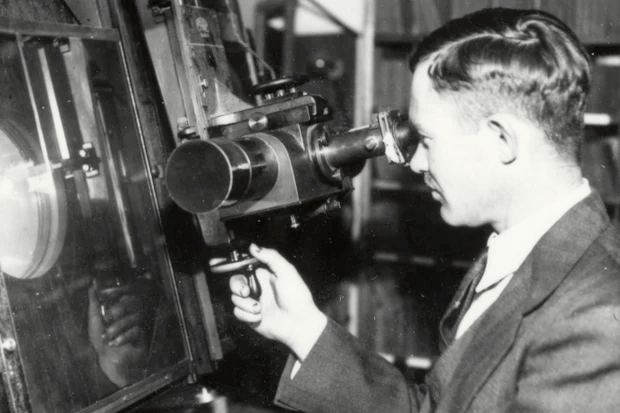 Clyde Tombaugh searches for Planet X