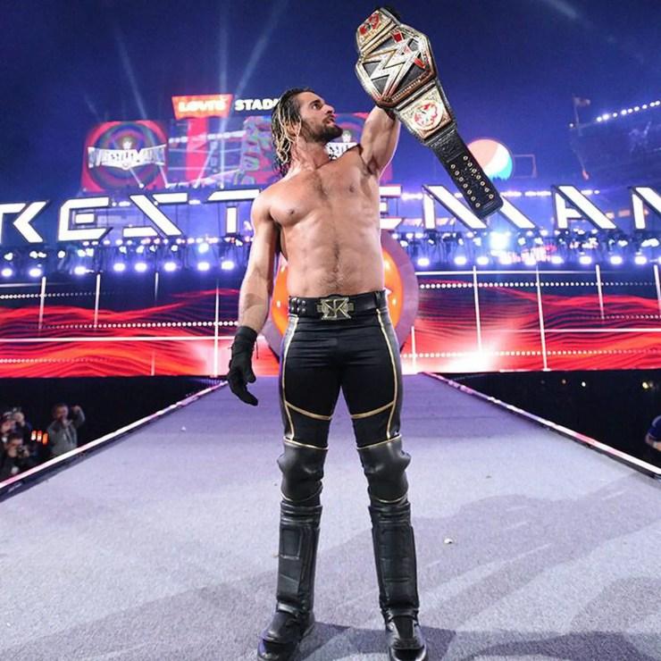wrestling Seth Rollins
