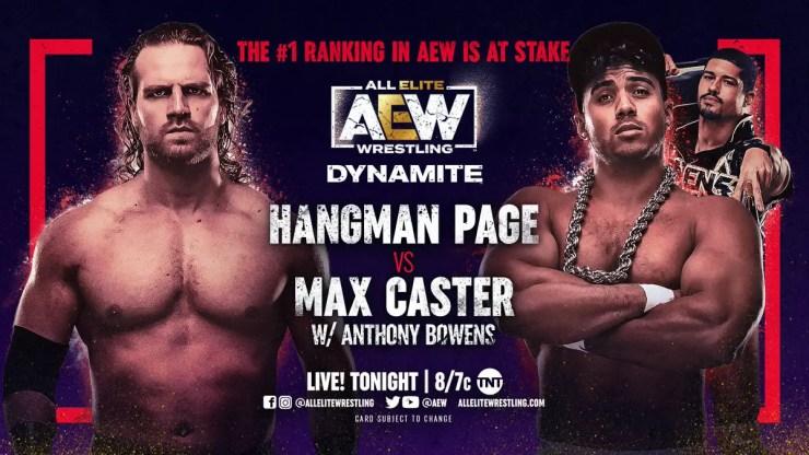AEW - Hangman Page vs. Max Caster