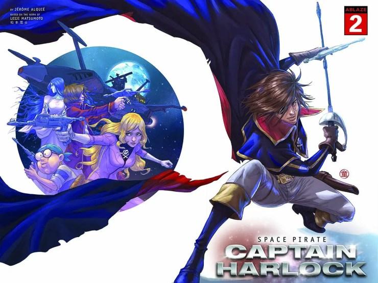 ABLAZE reveals 'Space Pirate Captain Harlock' #2 covers