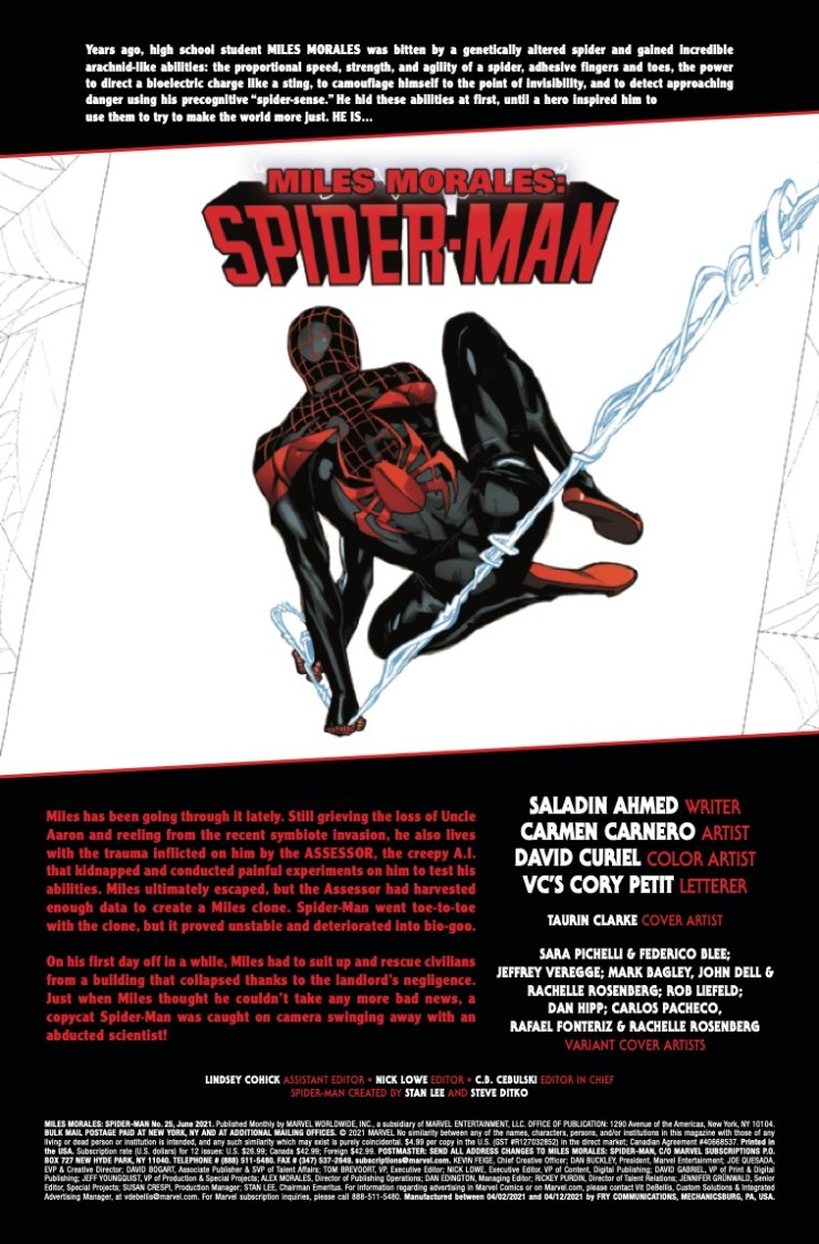 Miles Morales: Spider-Man (2018-) #25