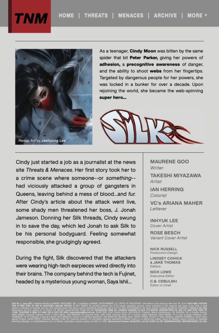 Silk (2021) #2 (of 5)