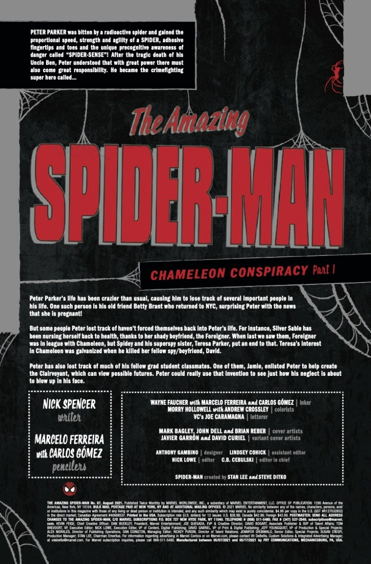 Marvel Preview: Amazing Spider-Man #67