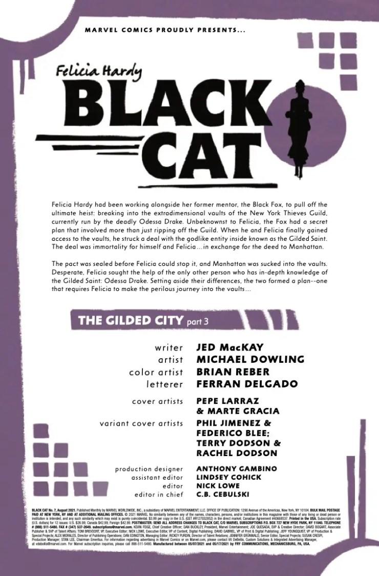 Marvel Preview: Black Cat #7