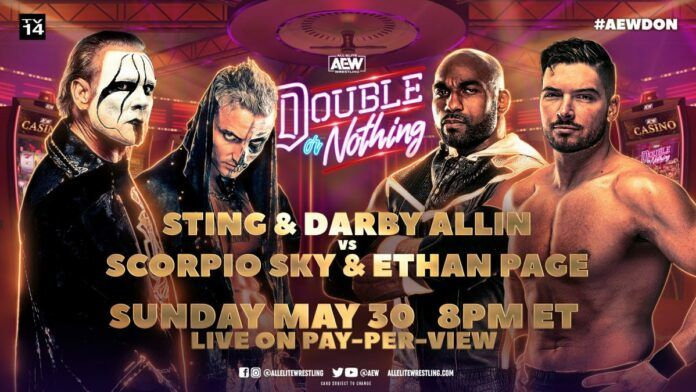 AEW Double or Nothing - Sting & Darby Allin vs. Scorpio Sky and Ethan Page