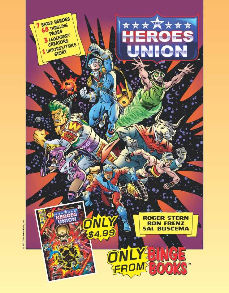 Naucrate the Auteur Cosmic — half the universe celebrates her genius, the other half cowers before her world-shattering power. And the only ones who can stop her are Earth's foremost super-group… The Heroes Union!
