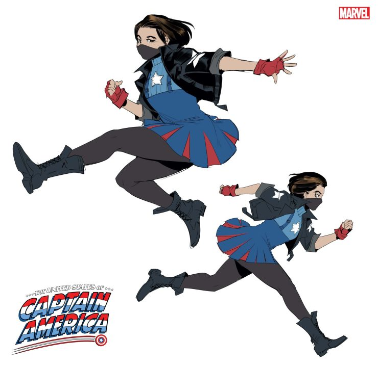 Marvel reveals new Captain America Ari Agbayani for 'The United States of Captain America #4