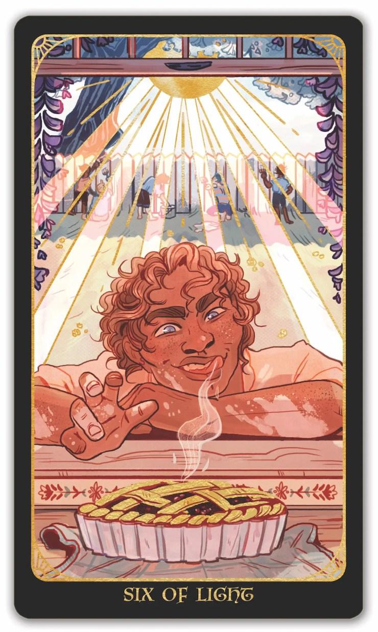 Literary Tarot Six of Light Damian Barr