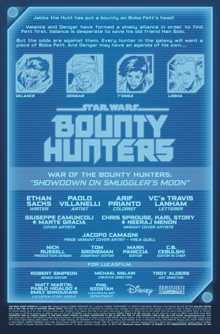Marvel Preview: Star Wars: Bounty Hunters #13