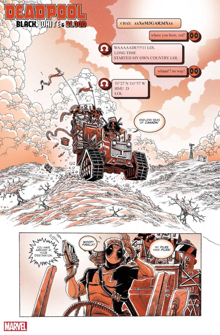 Marvel First Look: Deadpool: Black, White & Blood #1