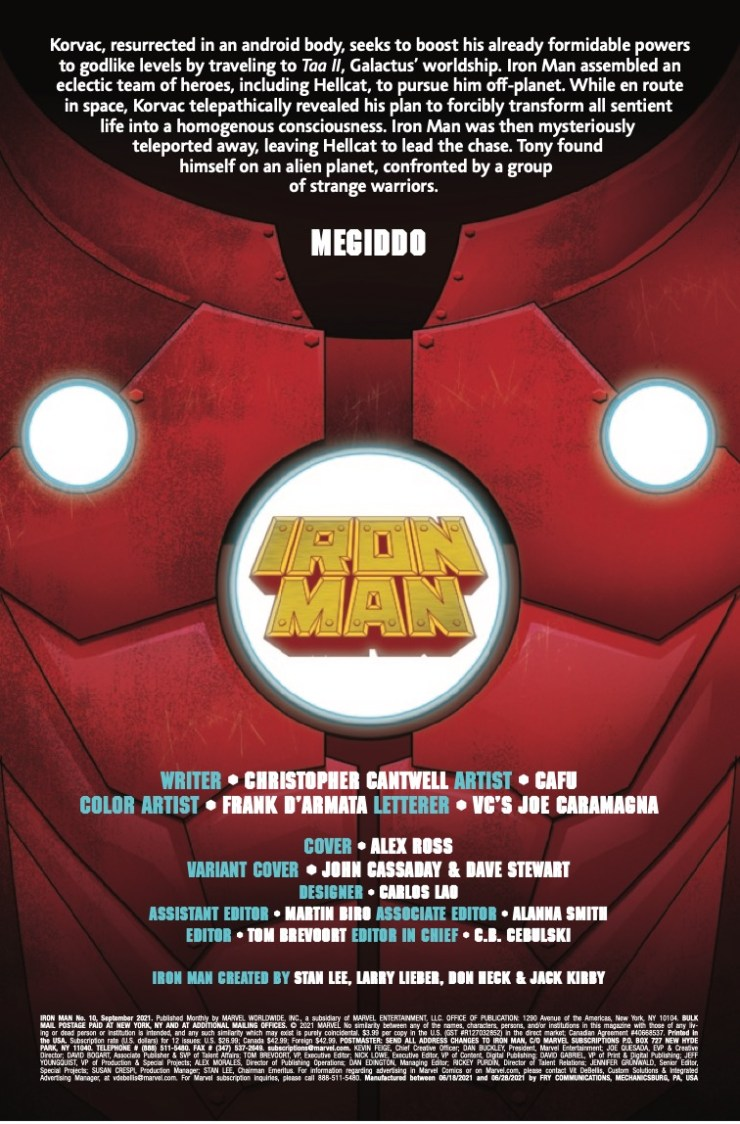 Marvel Preview: Iron Man #10