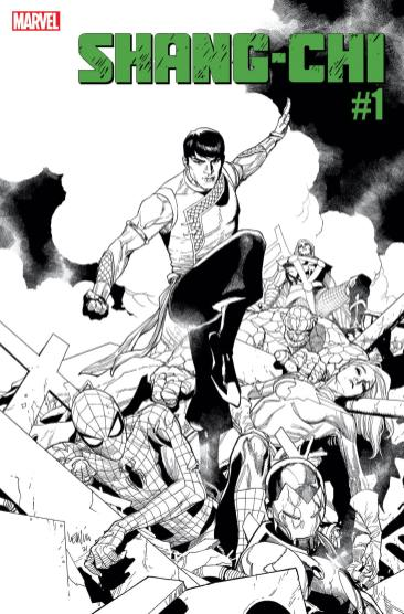 Marvel announces 'Shang-Chi' getting black and white second printing covers