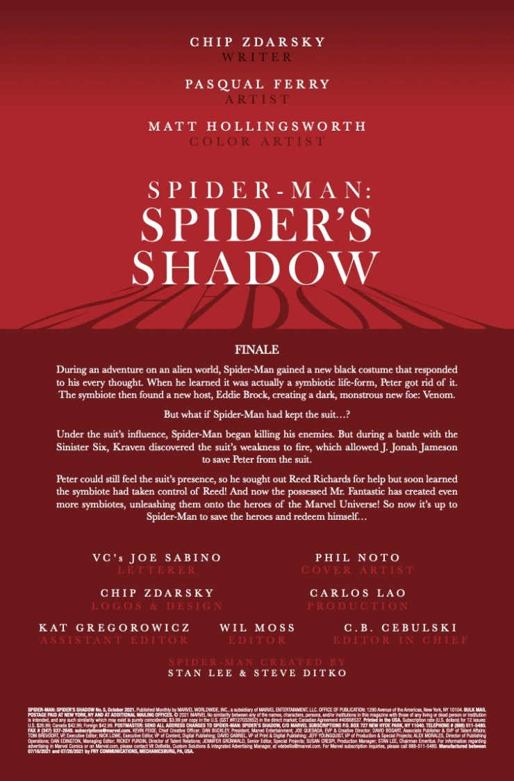 Marvel Preview: Spider-Man: Spider's Shadow #5