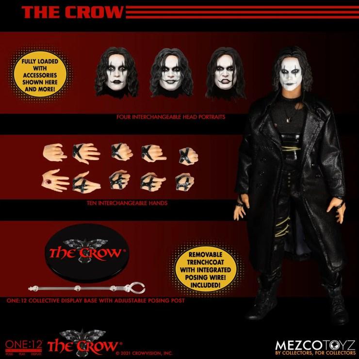 Mezco Toyz reveals 'The Crow' One:12 figure