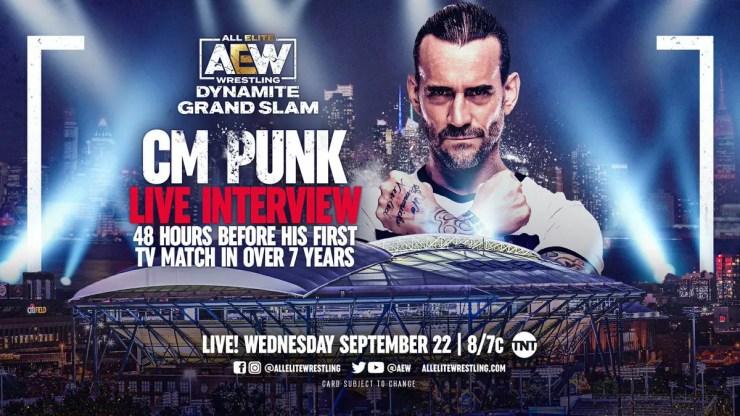 AEW Dynamite Grand Slam: CM Punk Live Interview