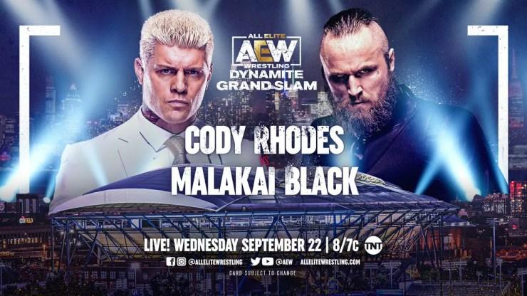 AEW Dynamite Grand Slam: Cody Rhodes vs. Malakai Black
