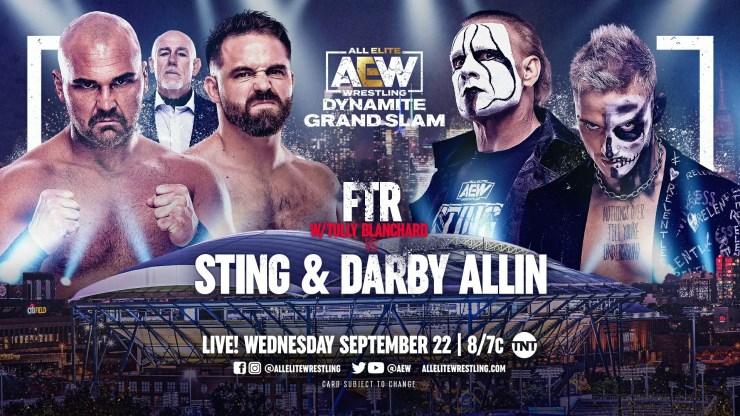 AEW Dynamite Grand Slam: Sting and Darby Allin vs. FTR