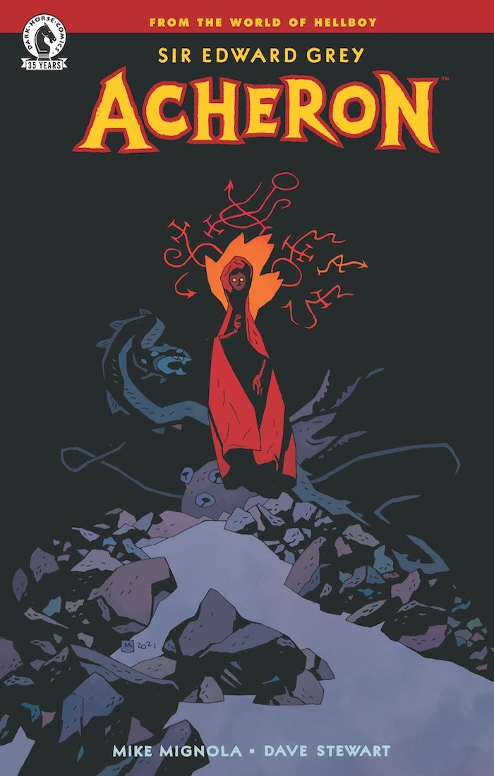 Mike Mignola writing and drawing 'Sir Edward Grey: Acheron' for Dark Horse Comics