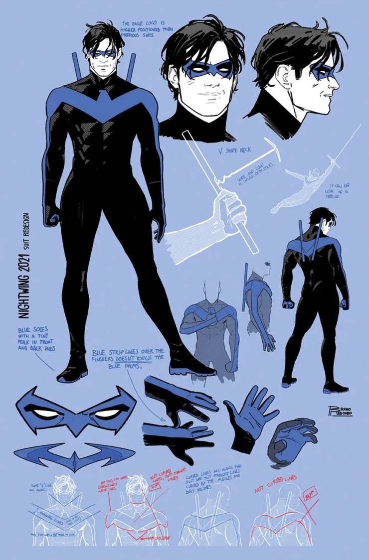 DC Comics officially announces Nightwing's blue stripes are back