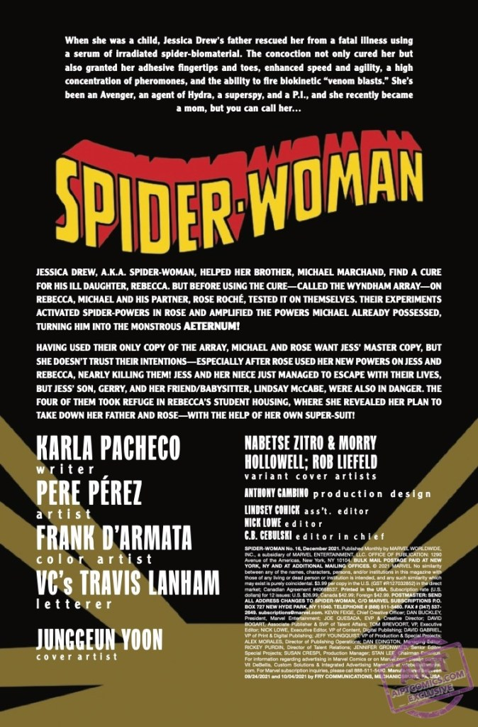 EXCLUSIVE Marvel Preview: Spider-Woman #16