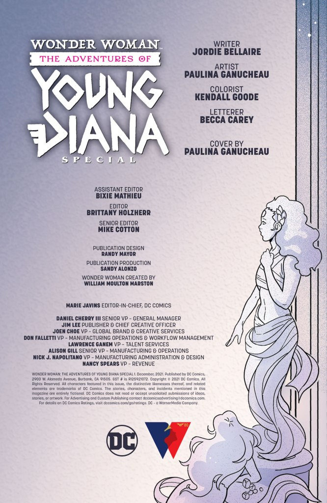 DC Preview: Wonder Woman The Adventures Of Young Diana Special #1