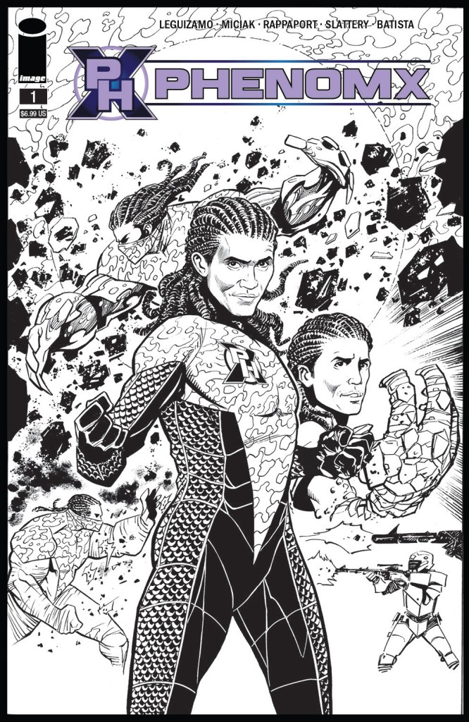 Additionally, aPhenomX #11:10 copy incentive black and white version of cover A by Jim Muñiz will be available.
