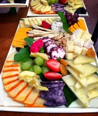 Our Imported Cheese Display, part of the Appetizer menu for hundreds of VIPs and VVIPs to enjoy on their long flights back to the South East.