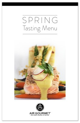 Air Gourmet Inflight Catering Spring Tasting Menu 2016