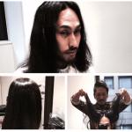 「柏のイエス様」ことショート職人が髪を切りにやってきた。