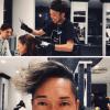 リベンジと花輪くんみたいな髪型刈り。