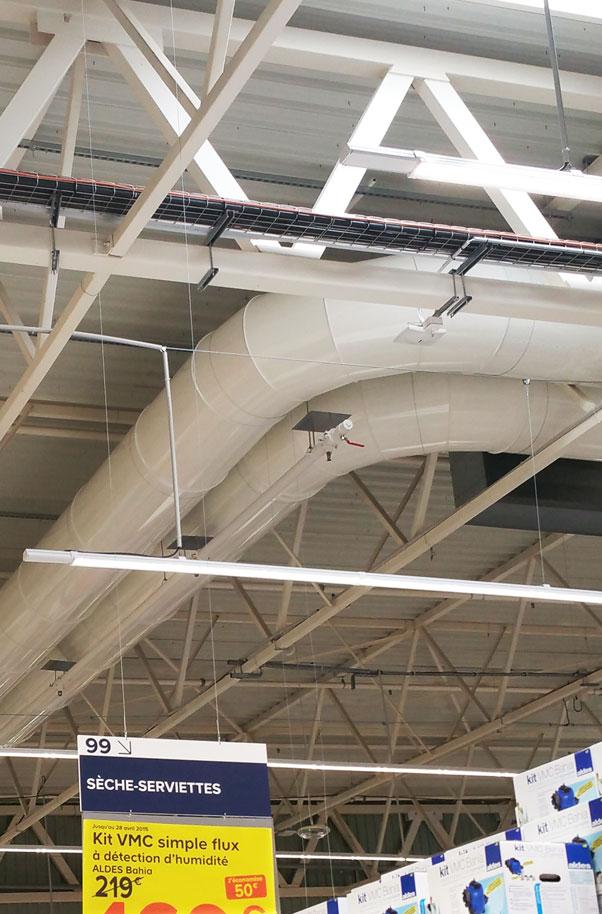 Castorama Air Technologies Gaines Metalliques Perforees De Ventilation Puls Air Et Diffus Air