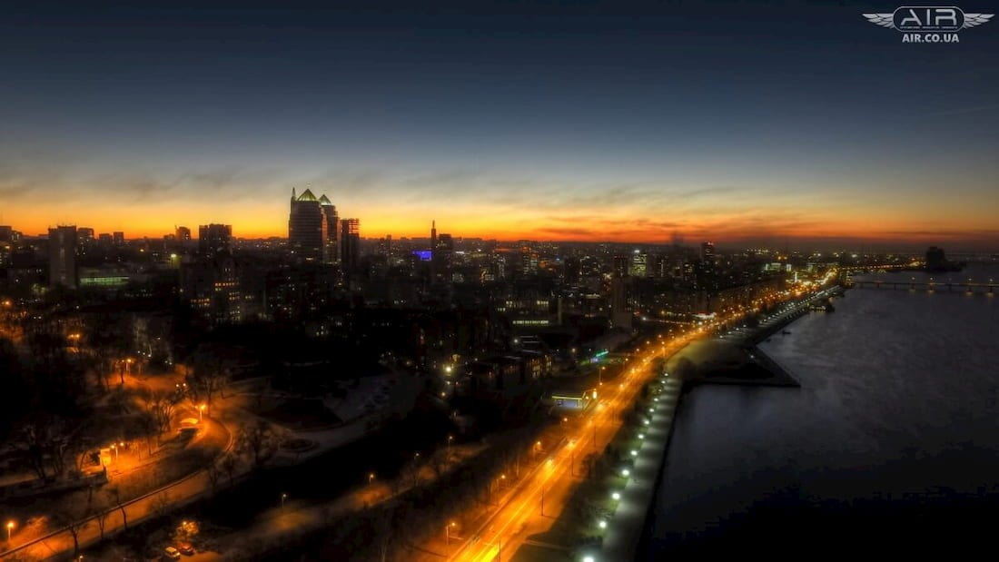The best photo of Dnipro city from the bird's height