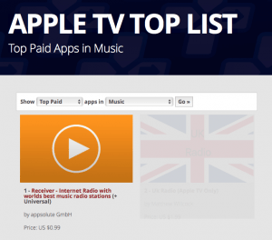 Receiver No1 on Apple TV