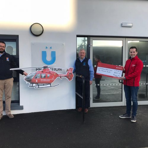 Bluegrass Horse Feeds, Dungannon £1000 donation to us in lieu of Christmas cards