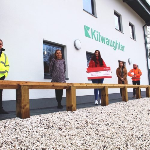 Staff at Kilwaughter made a Christmas donation to AANI of £2,000!!