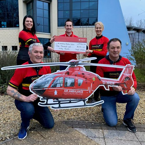Omagh Wheelers Club who did a fundraiser for us over Valentine's week and raised £1090