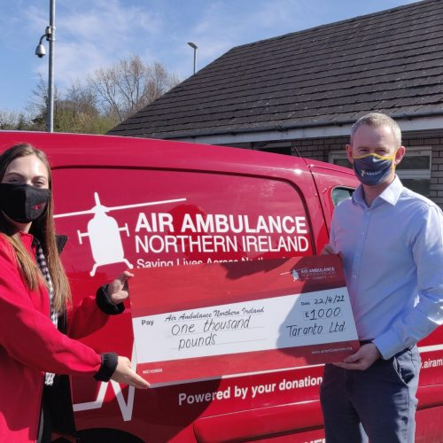 Taranto Ltd. who donated £1000 following completion of their internal survey.