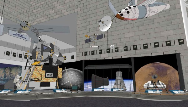 Rendering Of Boeing Milestones Flight Hall