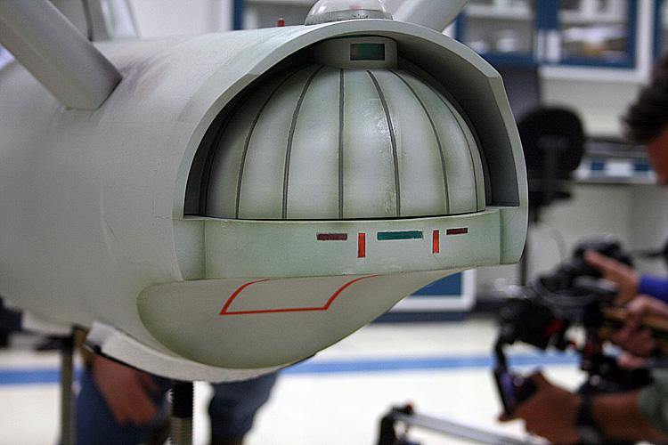 Close Up Of The Clamshell Doors Of The Starship Enterprise
