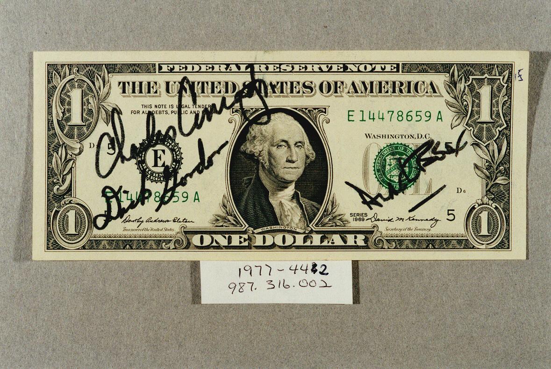 One Dollar Bill Apollo 12