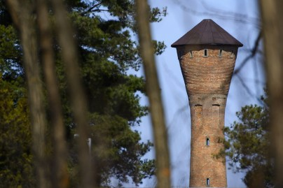 Vibrator (or castle tower?) shaped water tower from Hungary