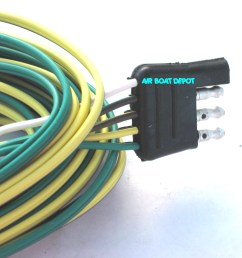 wb 002235 wesbar wishbone trailer wiring harness 4 way flat 18 ga  [ 1120 x 1079 Pixel ]