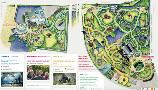 Map of Rotterdam Zoo