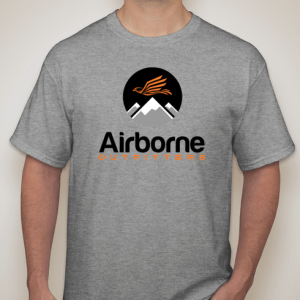 tri blend t-shirt with airborne outfitter logo