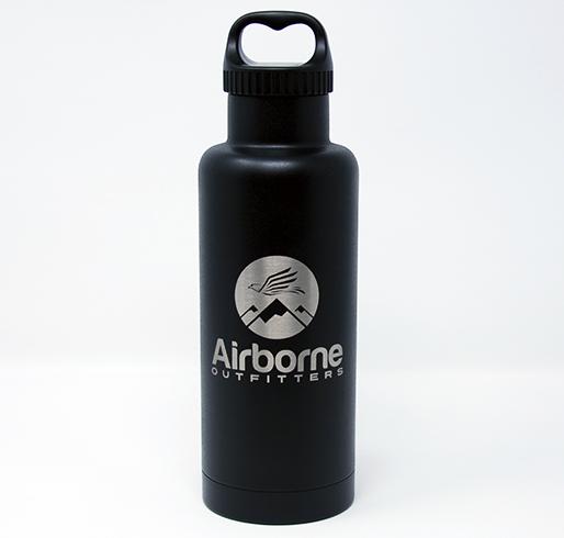 Airborne outfitter black 32 oz. bottle