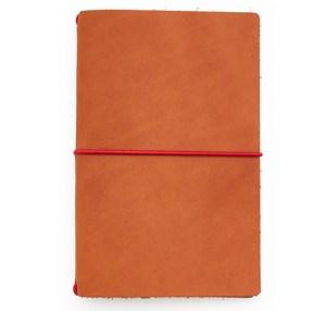 chestnut red leather notebook jacket