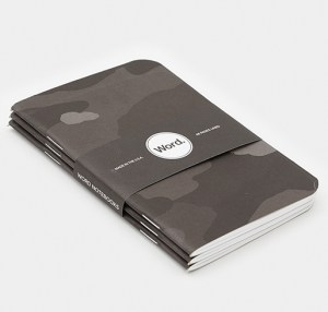 grey camo notebook