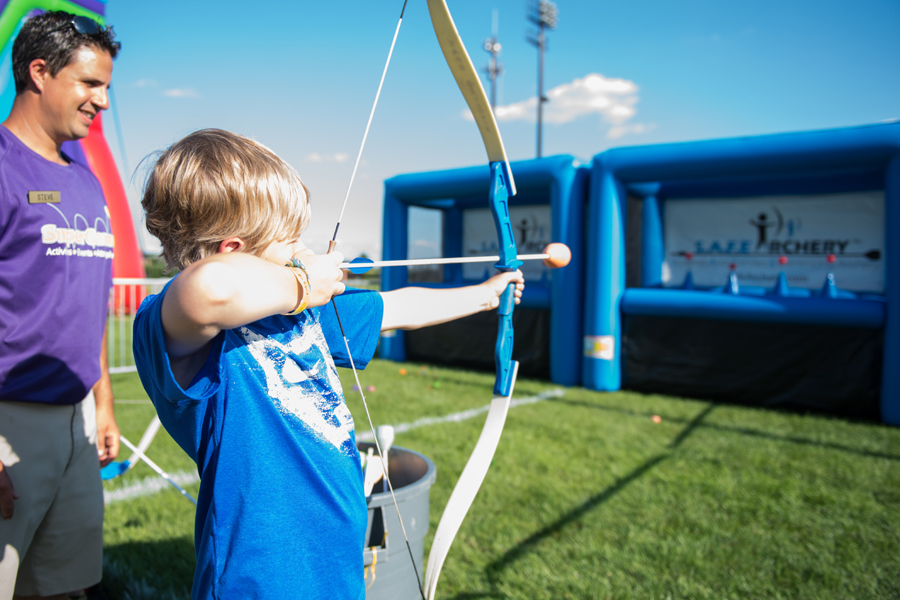 Hoverball Archery  Air Bounce Inflatables  Party Rentals