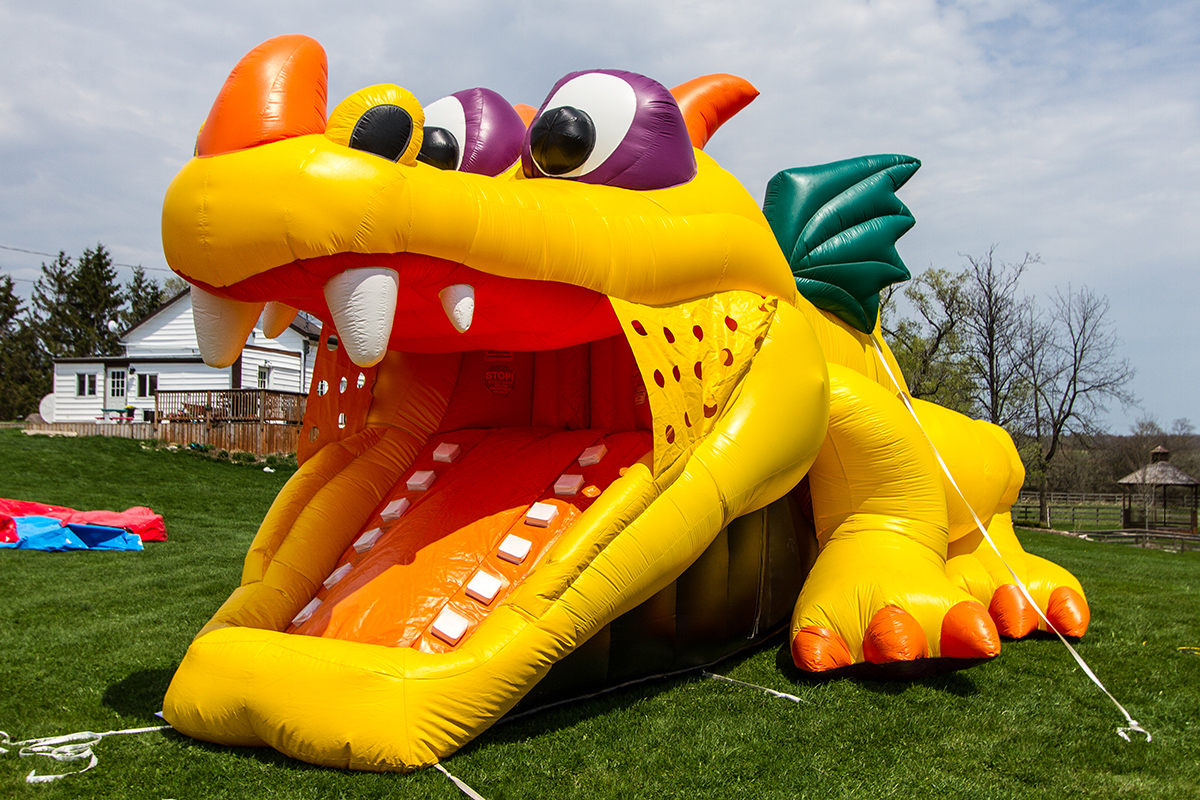 Dragon HidenSlide Toddler Combo  Air Bounce Inflatables