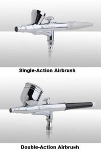 Single-Action and Double-Action Airbrush